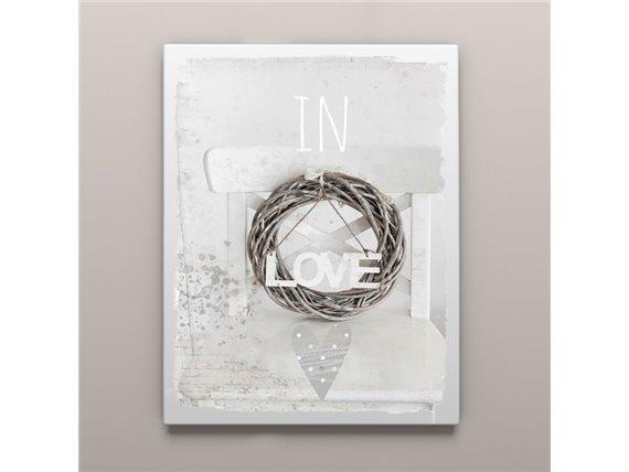 Toile imprimée sur cadre - 38 x 48 cm - In love