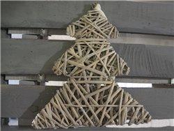 Sapin ou Etoile de Noël en osier gris - Simla