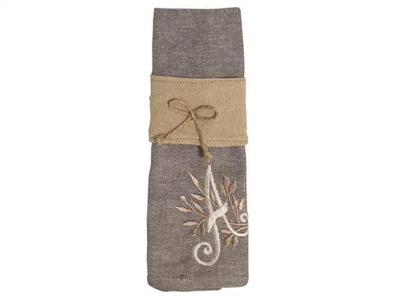 Set de 2 serviettes de table + rond - Juliette - Créative