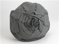 Coussin gris rond en forme de rose - Amadeus