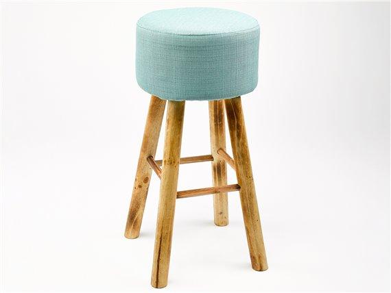 tabouret de bar haut en bois et tissu simla. Black Bedroom Furniture Sets. Home Design Ideas