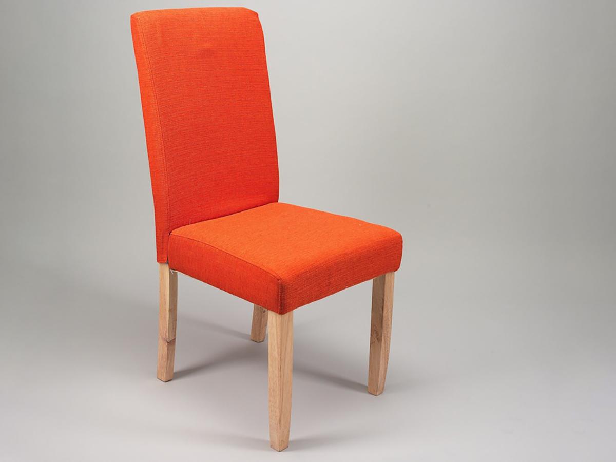 chaise contemporaine en tissu et pieds bois blond. Black Bedroom Furniture Sets. Home Design Ideas