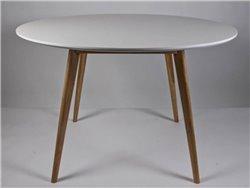 Table de salle manger ronde simla scandinave blanche - Table a manger ronde blanche ...