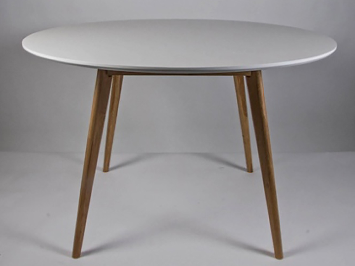 Table de salle manger ronde simla scandinave blanche for Table salle a manger ronde
