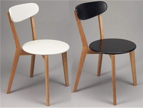 set de 2 chaises noires ou blanches simla esprit scandinave. Black Bedroom Furniture Sets. Home Design Ideas