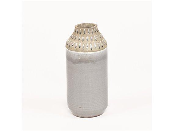Vase en céramique jaune ou gris - Simla