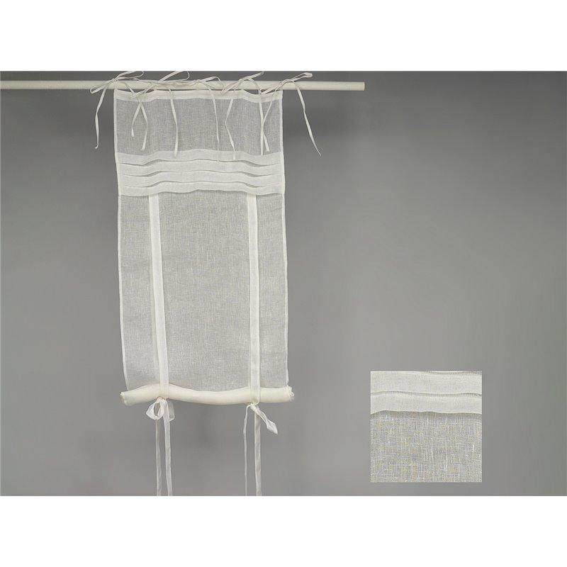 rideau store 100 lin blanc plis plats simla. Black Bedroom Furniture Sets. Home Design Ideas
