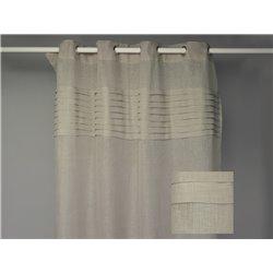 Rideau voilage 140 x 280 cm en lin blanc à plis plats - Simla