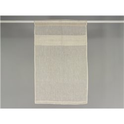 Rideau brise bise en lin blanc à plis plats - Simla