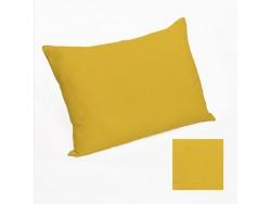 Housse de coussin ou taie d'oreiller en lin lavé jaune - Simla