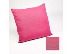 Housse de coussin ou taie d'oreiller en lin lavé rose fuchsia - Simla