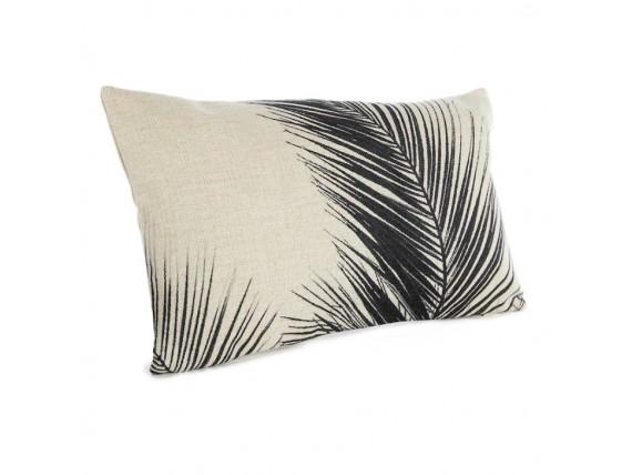 Housse de coussin palmier noir par 3 - Simla