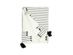 Plaid coton écru et noir - Simla