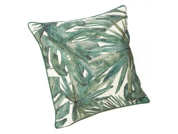 Housse de coussin impression feuilles de palmier - Simla