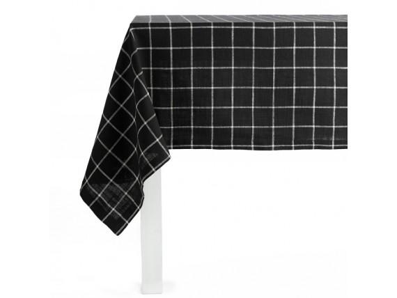Nappe en coton à quadrillage noir et blanc - Simla