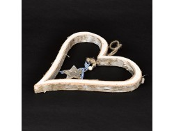 Coeur en bois à suspendre - Simla