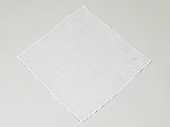 Lot de 4 serviettes de table en lin lavé gris bleu pâle - Simla