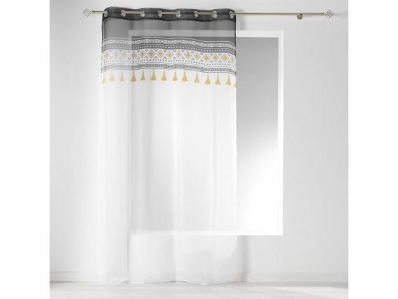 Rideau voilage blanc Talismania 140 x 240 cm - L3C