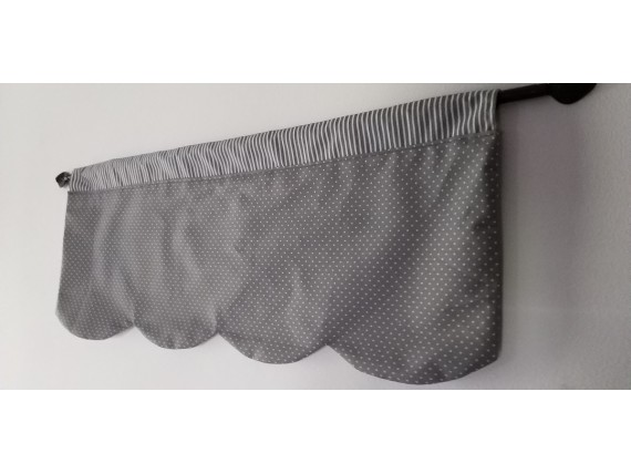 Cantonnière réversible grise - Lamba