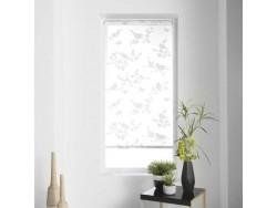 Store à enrouleur 60x180 cm blanc impressions oiseaux gris - L3C