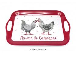 Plateau 2 poules - Gisèle - Faye