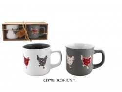 Set de 2 tasses mugs - Simone - de Faye