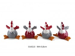 Set de 4 poules - Cottage - de Faye