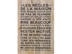 Panneau en bois - Règles de la Maison - Les Nomades