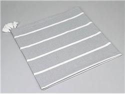 Nappe grise lignes blanches - Simla