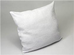 Housse de coussin ou taie d'oreiller en lin lavé gris bleuté set de 2 - Simla