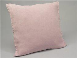 Housse de coussin ou taie d'oreiller en lin lavé rose - Simla