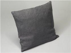 Housse de coussin ou taie d'oreiller en lin lavé gris anthracite - Simla