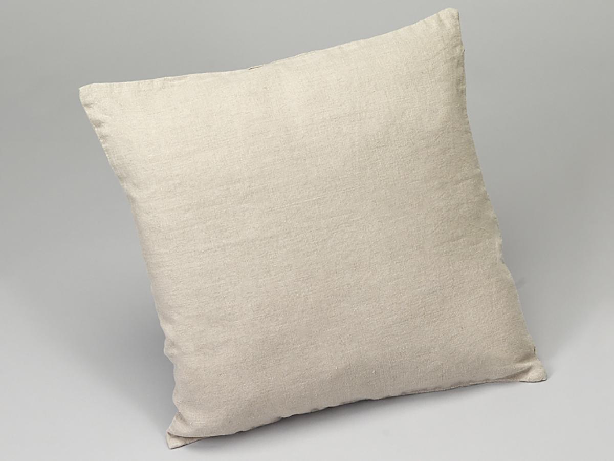 Housse de coussin ou taie d 39 oreiller lin lav naturel simla for Housse de coussin lin lave
