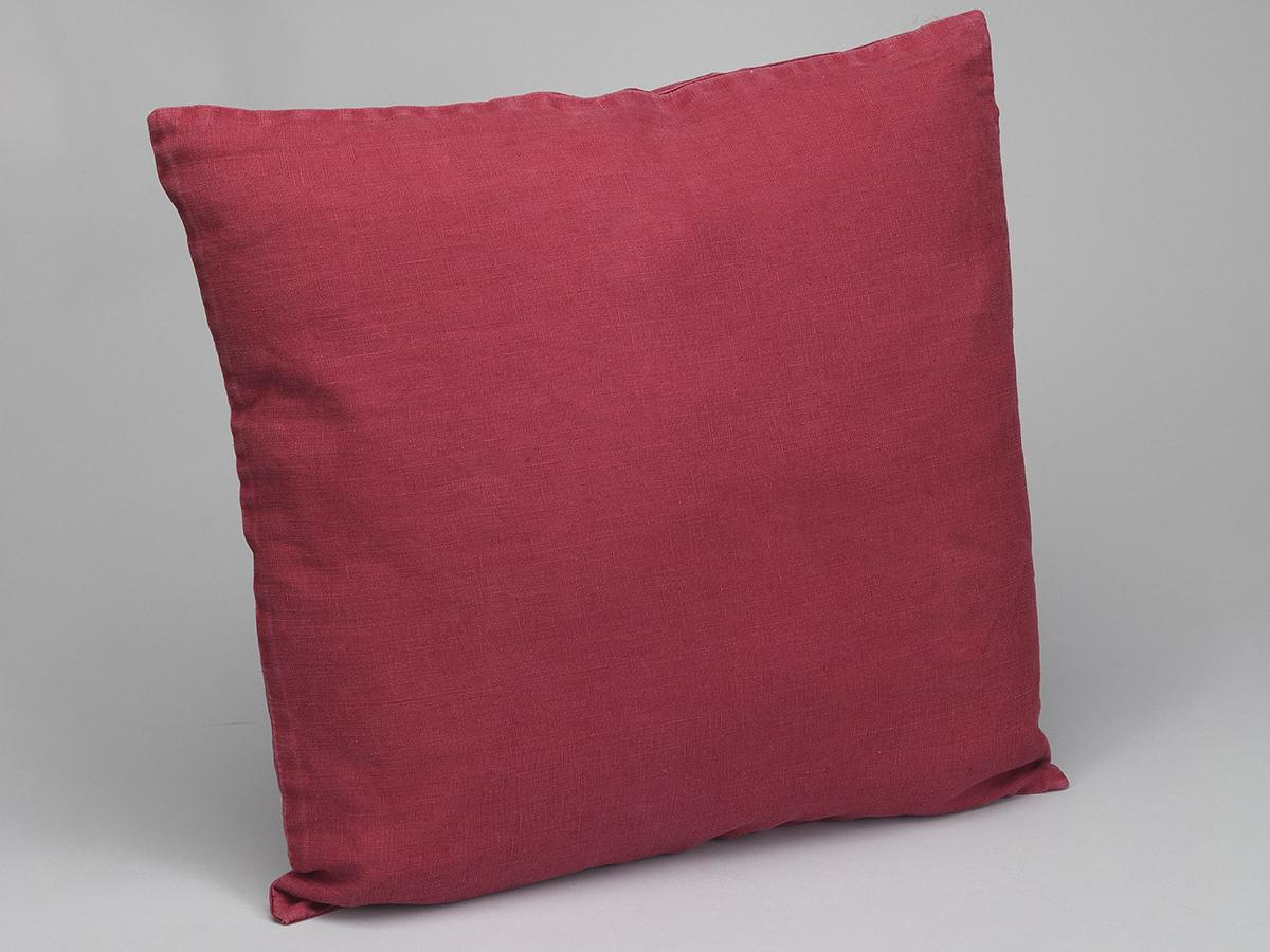 Housse de coussin lin lav rouge simla for Housse de coussin lin lave