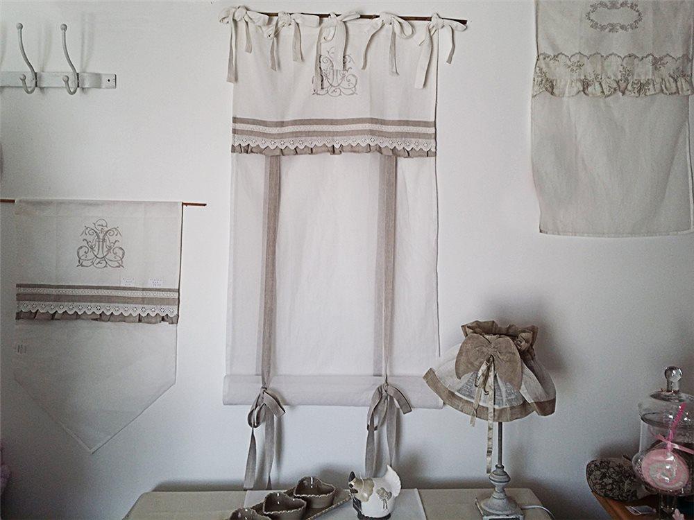 Rideau Store Organdi Blanc Et Dentelles Simla Neuf Ebay