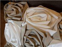 Coussin rectangulaire taupe blanc multirose - Amadeus