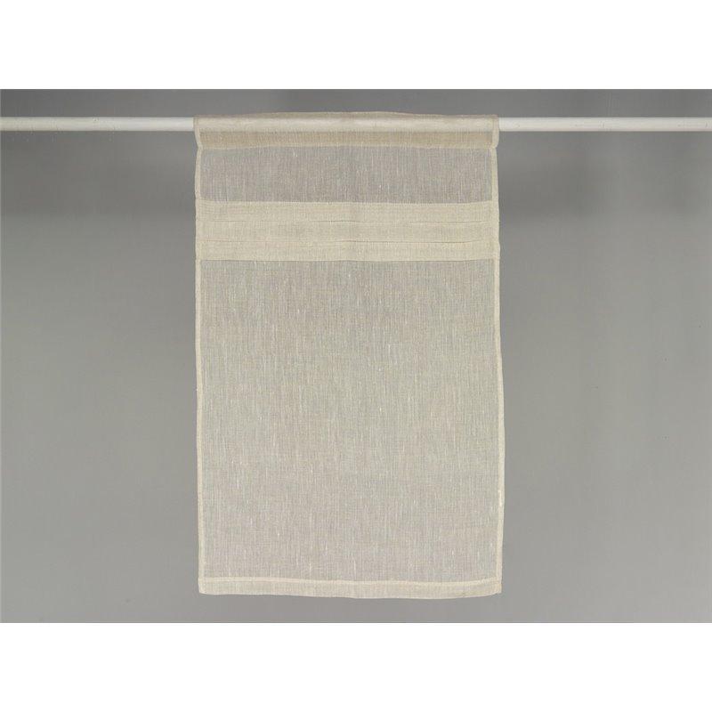 rideau brise bise en lin beige plis plats simla neuf. Black Bedroom Furniture Sets. Home Design Ideas
